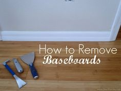 Have you ever wondered how to remove the baseboards from your walls without damaging the physical wall itself? While I was away from our home a few months ago, Mr. Woodsy decided he wanted to change out our baseboards in our Master Bedroom. He has