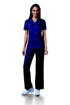 #ScrubsMagGiveaway stretch cotton!! Easy to care for & comfortable! I would LOVE a pair of these! Look nice, too.
