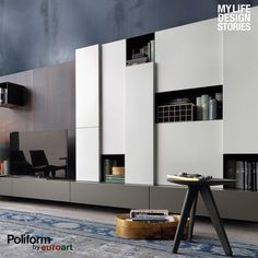 Sintesi system, design by Carlo Colombo, allows for complete freedom of design composition. The emphasis is on horizontal linearity through the use of benches, shelves, chests of drawers and cabinets each one with its own specific use. #Sintesisystem #CarloColombo #Poliform #homedecor #interiordesign #contemporary #visitus #showroom #spgg #monterrey #PoliformbyEuroart #like
