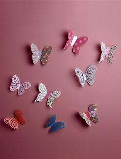 Lot de 14 décors papillons chambre fille ROSE CLAIR UNI - vertbaudet enfant