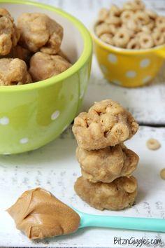 Peanut butter Cheerios bites