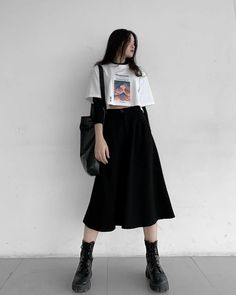 Kpop Fashion Outfits, Edgy Outfits, Korean Outfits, Mode Outfits, Retro Outfits, Cute Casual Outfits, Korean Fashion Kpop Inspired Outfits, Korean Outfit Street Styles, Fashion Hacks