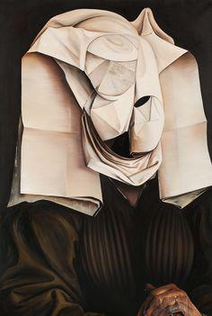 """Grand Prix_Ewa Juszkiewicz, Bez tytułu, według Rogiera van der Weydena, fot. Jacek Rojkowski  41. Biennale Malarstwa """"Bielska Jesień 2013"""". http://artimperium.pl/wiadomosci/pokaz/81,surrealistyczna-i-barokowa-bielska-jesien-2013#.Un5IRflWySo"""