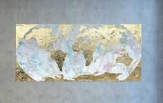 Globe globe art world globe art map wall art map of the world abstract world map painting this gold leaf world map is a great conversation piece gumiabroncs