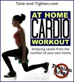 """Baby it's cold outside. Get your at-home cardio on in this newest """"Problem Areas"""" series post! #fitness #workout on Tone-and-Tighten.com #quickcardioathome"""