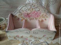 """Короб """" Нежный """" - белый,нежно-розовый,винтажный стиль,шебби-шик,короб для хранения"""