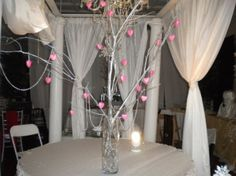 Winter Hearts Centerpiece Tree Branch Centerpieces, Event Decor, Tree Branches, Wedding Events, Hearts, Curtains, Winter, Home Decor, Insulated Curtains