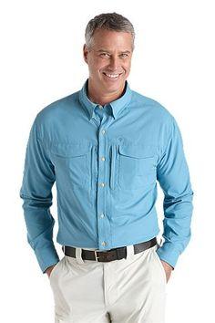 Coolibar UV werend overhemd heren wit»Heren kleding met lange…