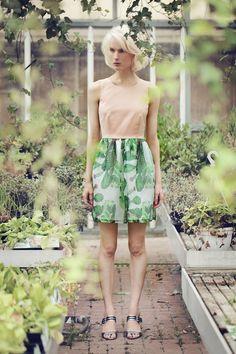 Image of JAQUARD DRESS CACTUS PRINT