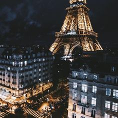 Imagen de paris, city, and night