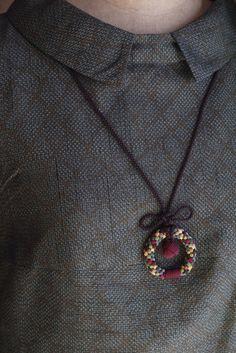 組紐 Monkey Ring neckless「 Chocolat 」 | ハンドメイドマーケット minne Japanese Kimono, Minne, Pendant Necklace, Accessories, Jewelry, Fashion, Moda, Jewlery, Jewerly