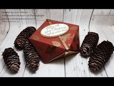 #10 Simple Sunday's, Beautiful heat embossed faceted gift box using Peace This Christmas - YouTube