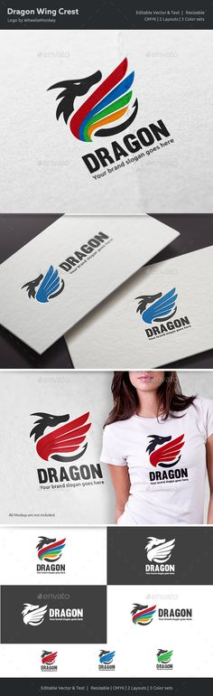 Dragon Wing Crest Logo - Crests Logo Templates Download here : https://graphicriver.net/item/dragon-wing-crest-logo/18678584?s_rank=115&ref=Al-fatih