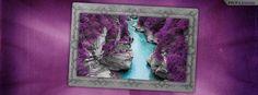 Purple Fairy Pools Island of Skye Facebook Cover