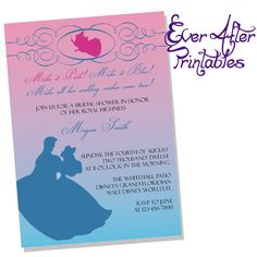Beauty And The Beast Invite Disney Wedding Beauty And The Beast