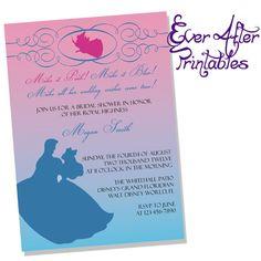 Sleeping Beauty Inspired Disney Bridal Shower or Birthday Invitation