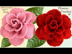 These crochet simple flowers are creative and decorative for so many projects. This crochet flower makes the perfect embellishment for accessories! Crochet Flower Tutorial, Crochet Flower Patterns, Crochet Blanket Patterns, Crochet Flowers, Crochet Ideas, Crochet Game, Easy Crochet, Tunisian Crochet, 3d Rose
