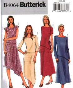 Items similar to Size Misses' Easy Top & Skirt Sewing Pattern - Asymmetrical Hem Tunic Top - Asymmetrical Hem Long Skirt - Butterick on Etsy Skirt Patterns Sewing, Vintage Sewing Patterns, Skirt Sewing, Sewing Ideas, Vintage Denim, Top Pattern, A Line Skirts, Two Piece Skirt Set, Tunic Tops