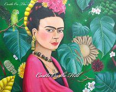 Frida Kahlo - Original 14 x 18 pintura