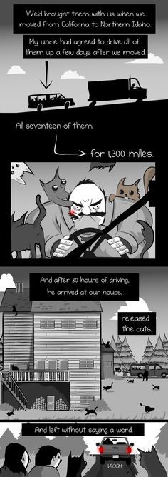When your house is burning down, you should brush your teeth - The Oatmeal. The Oatmeal and cats is always gold.