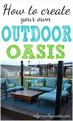 I love spending more time OUTDOORS during the spring and summer. Here's how we created our own outdoor oasis! | #Ad