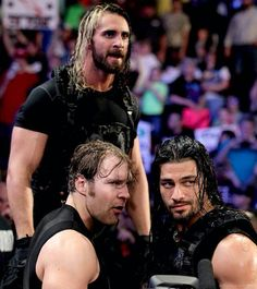 Dean Ambrose, Roman Reigns   & Seth Rollins