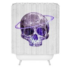 Terry Fan Cosmic Skull Shower Curtain | DENY Designs Home Accessories