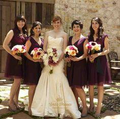 lindadress.com Offers High Quality Grape V-Neck Short Ruched A Line Chiffon…