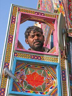 Pakistani truck driver