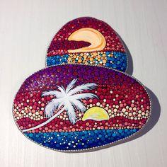 Big Dot Art Sunset stone Painted stone by CreateAndCherish