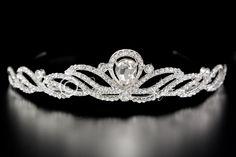 Art Deco Wedding Tiara with Teardrop Jewel