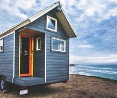 An tiny house on wheels designed and built by Monarch Tiny Homes. Could you live this tiny? Tiny House Kits, Cheap Tiny House, Tiny Home Cost, Tiny House Living, Tiny House Plans, Tiny House On Wheels, Tiny House Movement, Green Magic Homes, Tiny House Appliances