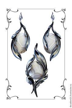 Jewelry Design Drawing, Jewelry Illustration, Jewellery Sketches, Diamond Flower, Gems And Minerals, Antique Jewelry, Jewelery, Jewelry Accessories, Jewelry Making