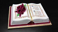 3D Book Cake by Yeners Way - Cake Art Tutorials