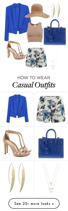 """""""business casual"""" by raiya-jai on Polyvore featuring MANGO, ONLY, Tory Burch, rag & bone and Yves Saint Laurent"""