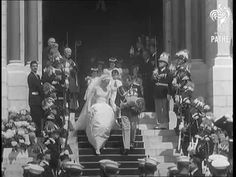Grace Kelly Marries Prince Rainier of Monaco (April 19, 1956) ~ British Pathe newsreel clip of the royal wedding (3:39). [Video]