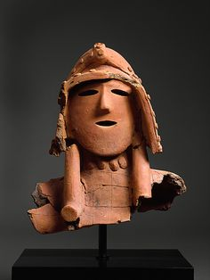 Haniwa (Hollow Clay Sculpture) of a Warrior  Period: Kofun period (ca. 300–710) Date: 5th–early 6th century Culture: Japan Medium: Earthenware with painted, incised, and applied decoration (Kanto region) Dimensions: H. 13 1/8 in. (33.3 cm) Classification: Ceramic