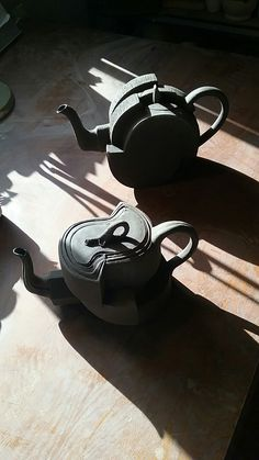 New movment black clay teapots. Clay Teapots, Black Clay, Tea Pots, Tea Pot, Tea Kettles