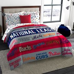 MLB All-League Twin/Full Comforter - BedBathandBeyond.com my future sons bed =D <3