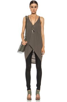 Rick Owens|Simple Viscose-Blend Tank Dress in DNA Dust