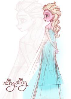 elsa deviantart   ELSA fast sketch by ~ ALBY-LePetiteDreamer