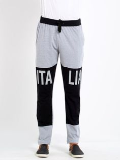 Printed Grey Cotton Trackpant