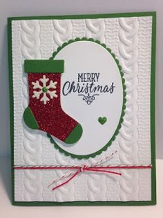 Hang Your Stocking Christmas Stocking Thinlits, Christmas Card, Stampin' Up!, Rubber Stamping, Handmade Cards