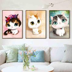 Hot!DIY 5D Diamonds Embroidery Diamond Mosaic Cartoon cat Love Round Diamond Painting Cross Stitch Kits Home Decoration