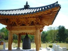 """You don't want to miss the new, Korean Bell Garden at Meadowlark Botanical Gardens. It is the first public Korean Bell Pavilion in the entire Western Hemisphere. (Washington Post's """"Can't Miss Gardens,"""" 4/20/12)"""