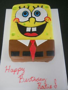 Sponge Bob Cake  https://www.facebook.com/SweetestRevenge09/photos_stream