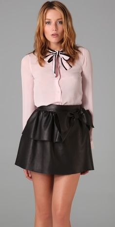 RED Valentino Pussybow blouse on sale for $227.50 @ shopbop.com  I die for pussybow blouses and this one is up their at the top of my wishlist
