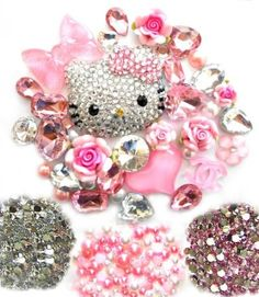 DIY 3D Blinged out Hello Kitty Cell Phone Case Resin Flat back Kawaii Cabochons Deco Kit / Set -- lovekitty: Arts, Crafts & Sewing