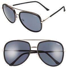 Women's Quay Australia 'Needing Fame' 65Mm Aviator Sunglasses - Black/ Smoke #sunglasses #womens #summer