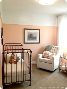 2013 Salt Lake City Parade of Homes = A Happy House Peeper (loving this apricot color + white halfway up the walls)
